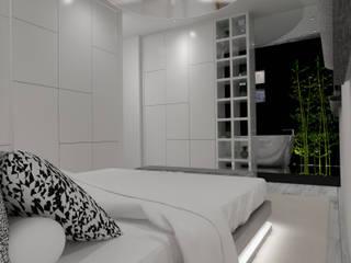 Apartamento Côte D'Azur: Quartos  por Angelourenzzo - Interior Design,Escandinavo
