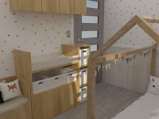 Cambiador y puerta de habitación:  de estilo  por 78metrosCuadrados