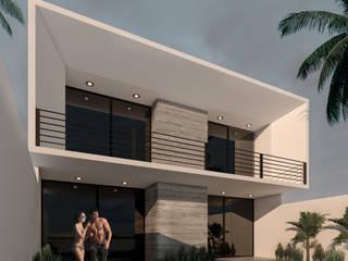 Casa 008 Tapachula. Albercas modernas de JC Arquitectos Moderno