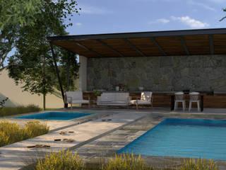 Casa de descanso. Balcones y terrazas minimalistas de JC Arquitectos Minimalista