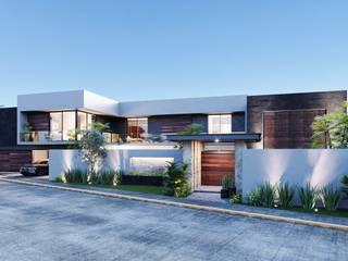 Residencia Garcia Arquitectos Ejecutivos Casas unifamiliares Concreto reforzado Blanco
