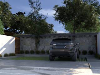Casa de descanso. Garajes minimalistas de JC Arquitectos Minimalista