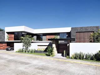 Residencia Garcia Arquitectos Ejecutivos Casas modernas Concreto reforzado Blanco