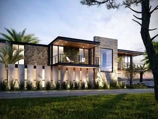 Loft Villena Arquitectos Ejecutivos Casas modernas Concreto reforzado Marrón