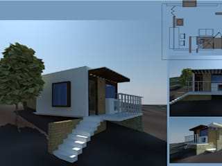 Cabañas ecológicas de Casa+Calle Estudio Rústico