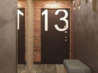 Трехкомнатная квартира в стиле лофт: Коридор и прихожая в . Автор – Rerooms