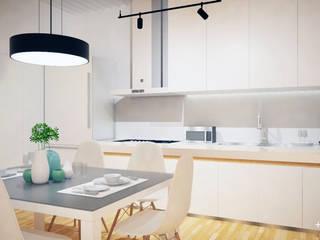 Slice House Minimalist dining room by Pluszerotwo Design Studio Minimalist