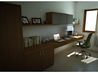 Study :  Study/office by Sandarbh Design Studio