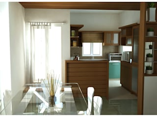 Dining Area:  Dining room by Sandarbh Design Studio
