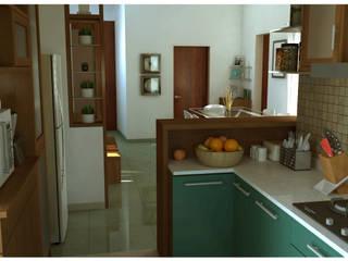 Kitchen:  Kitchen by Sandarbh Design Studio