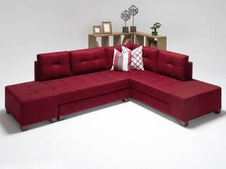 Manama Stil Yataklı Köşe Koltuk Kırmızı Sağ K105 Mobilya Pazarlama Danışmanlık San.İç ve Dış Tic.LTD.ŞTİ. Oturma OdasıKanepe & Koltuklar Ahşap Kırmızı