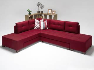 Manama Stil Yataklı Köşe Koltuk Kırmızı Sol K105 Mobilya Pazarlama Danışmanlık San.İç ve Dış Tic.LTD.ŞTİ. Oturma OdasıKanepe & Koltuklar Ahşap Kırmızı