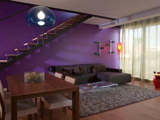 Apartamento em Algés Salas de estar modernas por Nuno Ladeiro, Arquitetura e Design Moderno