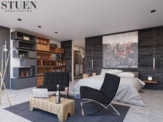 ห้องนอน โดย Stuen Arquitectos, โมเดิร์น หิน
