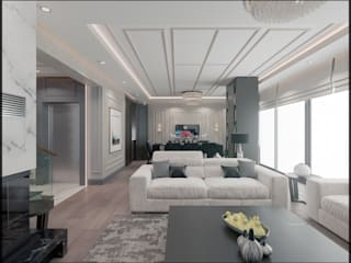 Nuevo Tasarım – Ankara Çay yolu Duru Irmak Sitesi Projesi:  tarz Oturma Odası