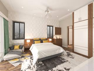 RATAN KUMAR VILLA Modern style bedroom by Samanta's Studio Modern