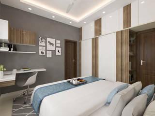 ANUJ SHARMA 3BHK Modern style bedroom by Samanta's Studio Modern