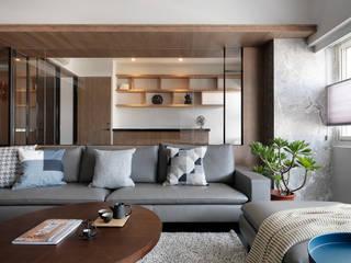 幸福鹿特丹 御見設計企業有限公司 现代客厅設計點子、靈感 & 圖片