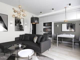 Projekt mieszkanai 70m2 w Łodzi. od INVENTIVE studio