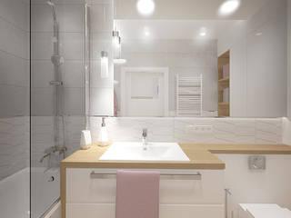 Mieszkanie z różowym akcentem. od INVENTIVE studio