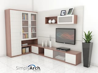 J-House TV Credenza + Storage at Gajah Mada, Central Jakarta:  oleh Simply Arch.,
