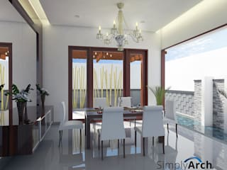 Dining room by Simply Arch., Minimalist