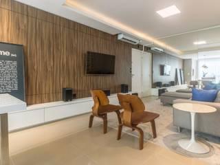 ZAAV Arquitetura Living roomTV stands & cabinets