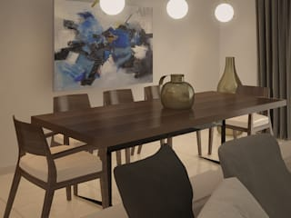 WATERFRONT APARTMENT - Beirut: Sala da pranzo in stile  di Studio Frasson