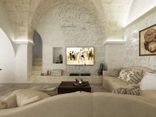 Salas de estilo rústico por De Vivo Home Design