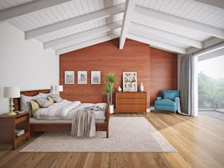 casadellastudio Modern Bedroom Wood Wood effect