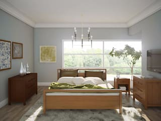 Bedroom Furn & Finishing:   by casadellastudio