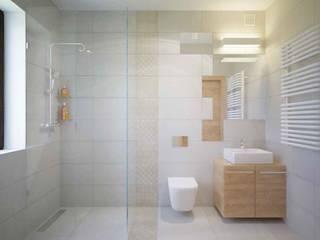 mała łazienka: styl , w kategorii Łazienka zaprojektowany przez ABC Remonty Oleba