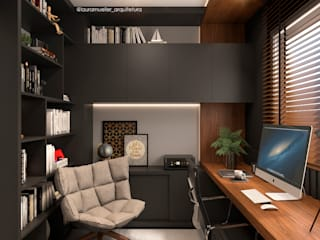 Modern Study Room and Home Office by Laura Mueller Arquitetura + Interiores Modern