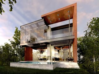 RESIDENCIA EL CIELO: Casas de estilo  por PROYECTA_,