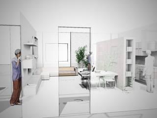 iL Living di Manuela: Soggiorno in stile  di TheWorkInProgress Studio Interior Design