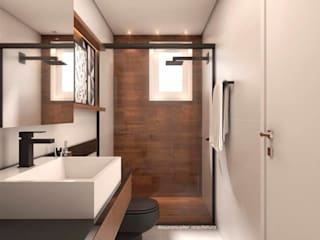 Modern Bathroom by Laura Mueller Arquitetura + Interiores Modern