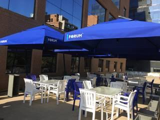 Terraza Oficina Forum :  de estilo  por Kaa Interior | Arquitectura de Interior | Santiago,