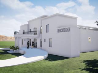 Fachadas poniente y sur: Parcelas de agrado de estilo  por BIM Urbano