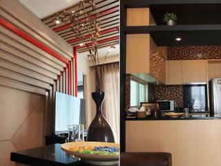 Private Suite:  ห้องนั่งเล่น by Pilaster Studio Design