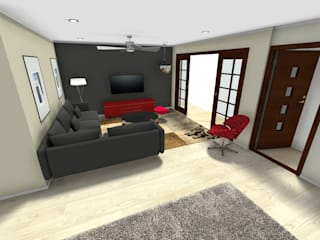 Living room 3D:   by Klass Designers and Contractors