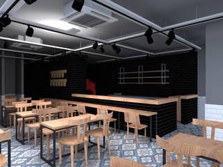 Bider Mimarlık İnşaat Ltd. Şti. –  Pizzacı Tasarım:  tarz Yeme & İçme