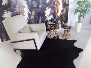 AMBIENTES MODERNOS, SÓBRIOS E CONFORTÁVEIS: Sala de estar  por TEXTURAS INTERIORES, Design de Interiores, Lda