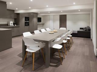 Rénovation de bureaux réHome Cuisine moderne