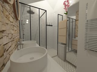 Industrial style bathroom by 1.61 design Industrial