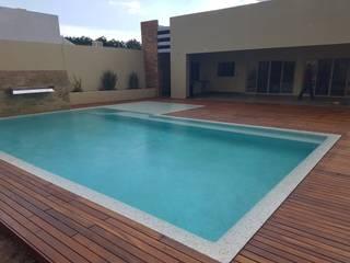 Dintel arquitectura y construcción Garden Pool Wood Wood effect