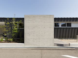 toki Architect design office Dom z drewna Beton Szary