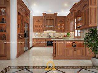 Nội thất Long Thành Muebles de cocinas Acabado en madera