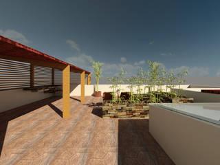 Casa campestre Manantiales: Terrazas de estilo  por Arquitecto Alberto