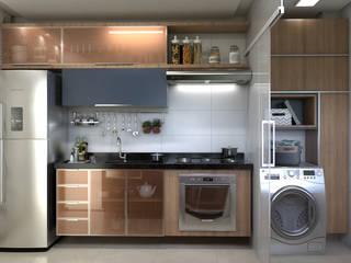 Cozinha Pequena por AT arquitetos Moderno