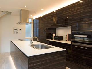 SF Residence: ヒココニシアーキテクチュア株式会社が手掛けたキッチンです。